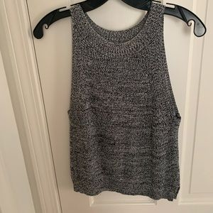 Knitted Black and White top